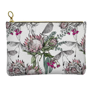 Protea Bouquet Leather Clutch
