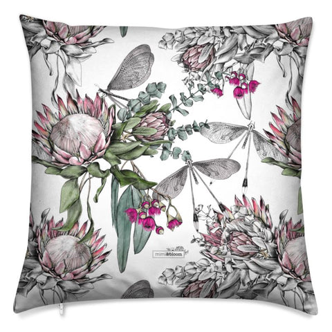 Protea Bouquet Velvet Cushion