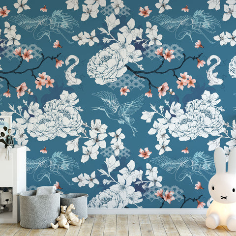 Chinoiserie Dreams (Blue)