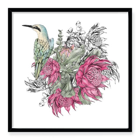 Waratah Bouquet Framed Art Print