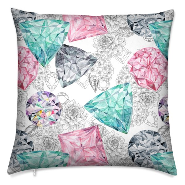 Bling Bouquet Velvet Cushion