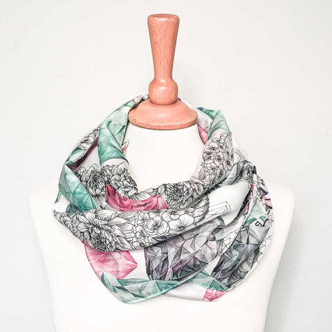 'Bling Bouquet' Long Silk Tencel Scarf