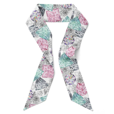 'Bling Bouquet' Silk Tencel Skinny Scarf