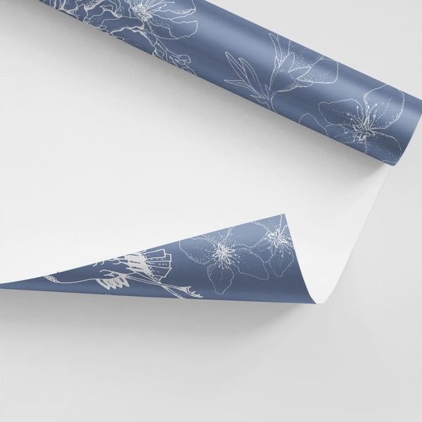 Chinese Whispers Wallpaper (Blue)