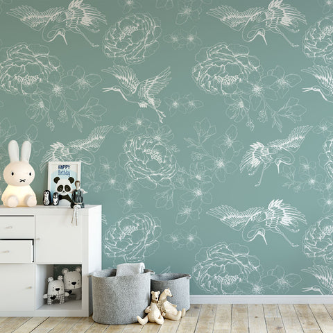 Chinese Whispers Wallpaper (Green)