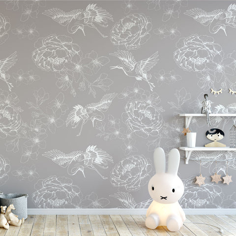 Chinese Whispers Wallpaper (Grey)