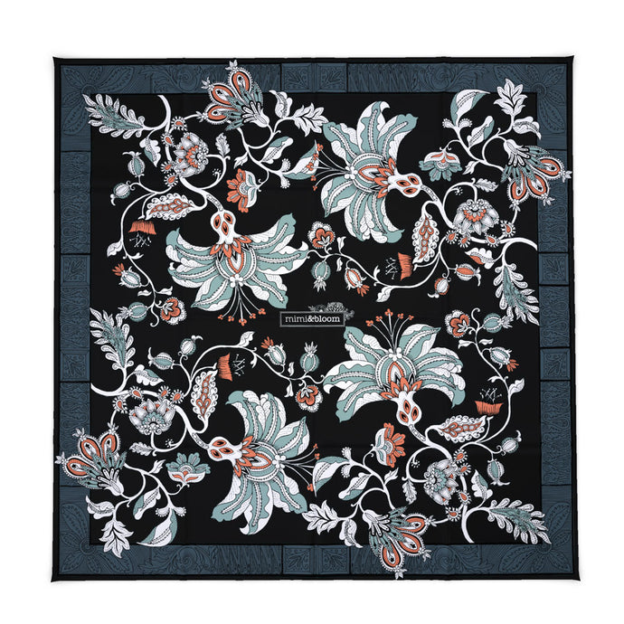 The Midnight Garden Silk Scarf