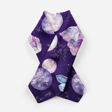 Load image into Gallery viewer, Dark Cosmos Silk Scarf