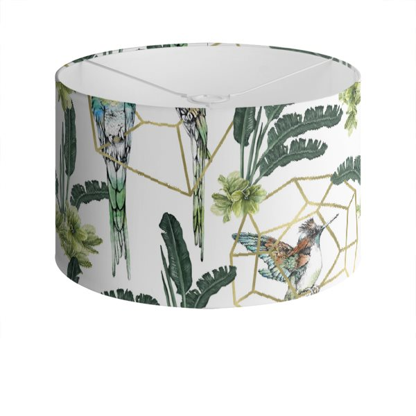 Gilded Jungle Drum Lampshade