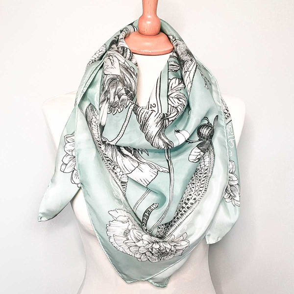 'Kingdom of the Bees' Silk Tencel Scarf