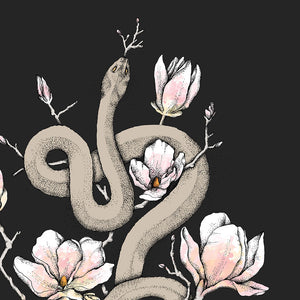 Magnolia & Serpent Art Print