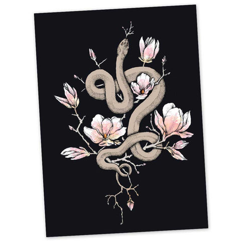 "Magnolia & Serpent 5x7"" Greeting Card"