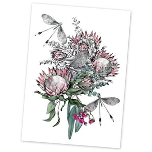 "Protea Bouquet 5x7"" Greeting Card"