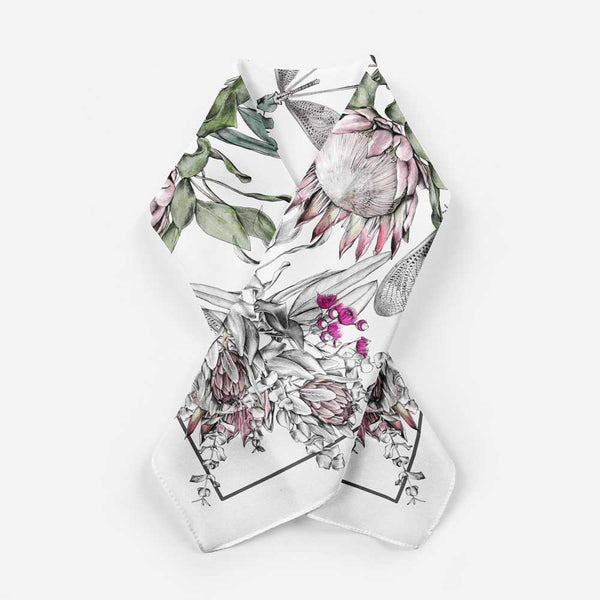 'Protea Bouquet' Silk Tencel Scarf