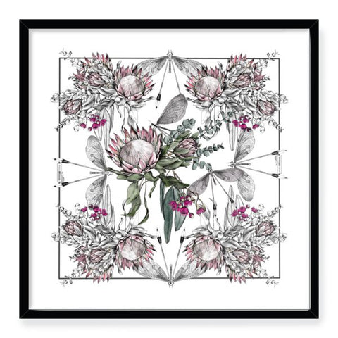 Protea Bouquet Framed Art Print