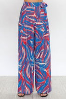 "PLEATED PALAZZO ""MISSY"" PANTS WITH ATTACHED WAIST BELT"