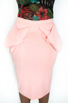 "RUFFLE DETAIL ""TARA"" BONDING PENCIL SKIRT"