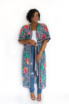 "SHEER ""CECE"" DUSTER WITH FRONT TIES"