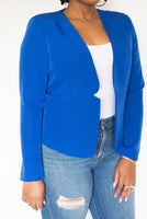 "COLLARLESS ""BRANDI"" BLAZER"