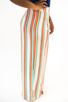 "STRIPED ""ANA"" PANTS WITH PLEATS"
