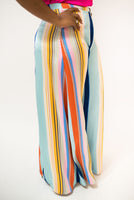 """KIZZY"" STRIPED WIDE LEG PANTS"
