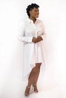 "HIGH-LOW ""JUSTINE"" SHIRT DRESS"