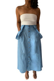 """CALLIE"" SUSPENDERS BUTTON- DOWN SKIRT"