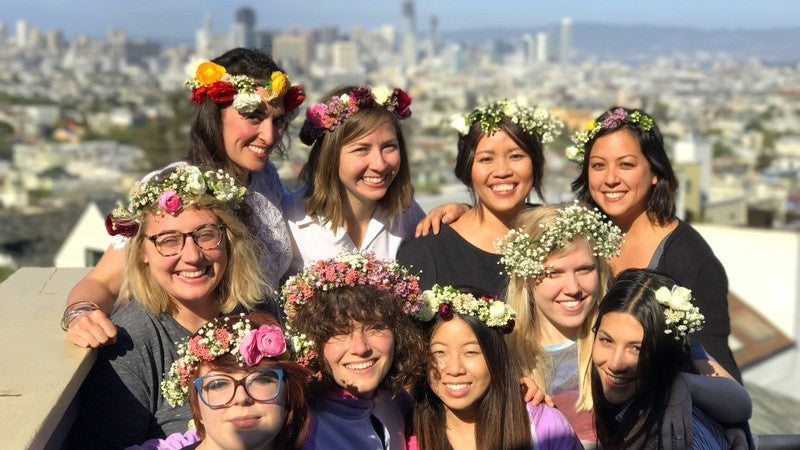 Bloom2Bloom Flower Crown Making Event at Airbnb!