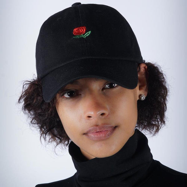 Perfect Rose strapback cap, black