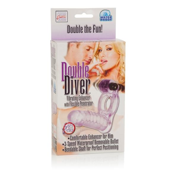 Double Diver Dual Penetration Vibrating Cock Ring