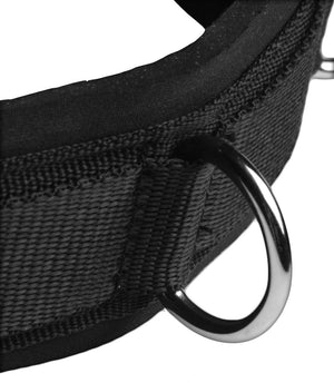 Neoprene Bondage Collar with D-Rings