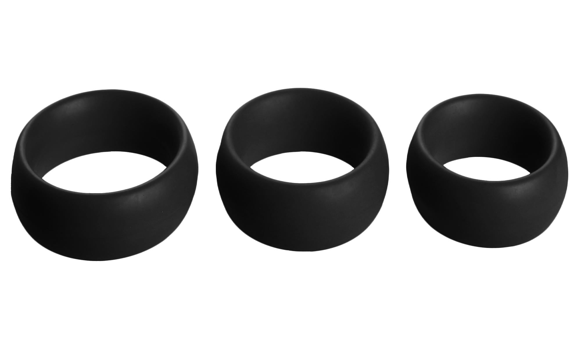 3 Piece Silicone Cock Ring Set