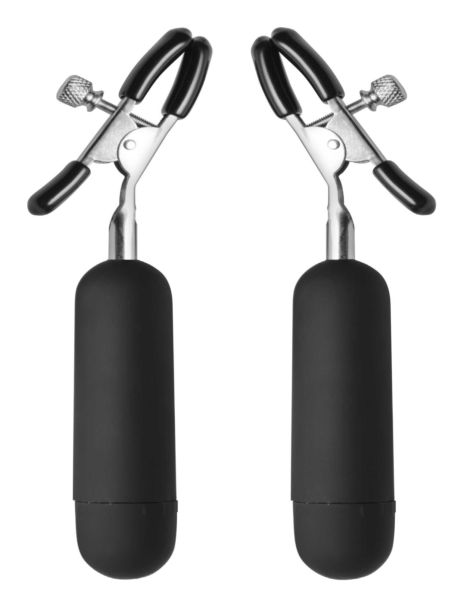 Dark Passion Vibrating Nipple Clamps