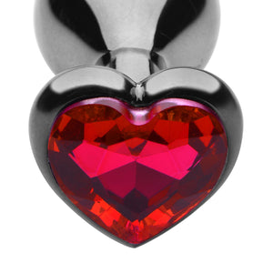 Crimson Tied Scarlet Heart Jewel Anal Plug