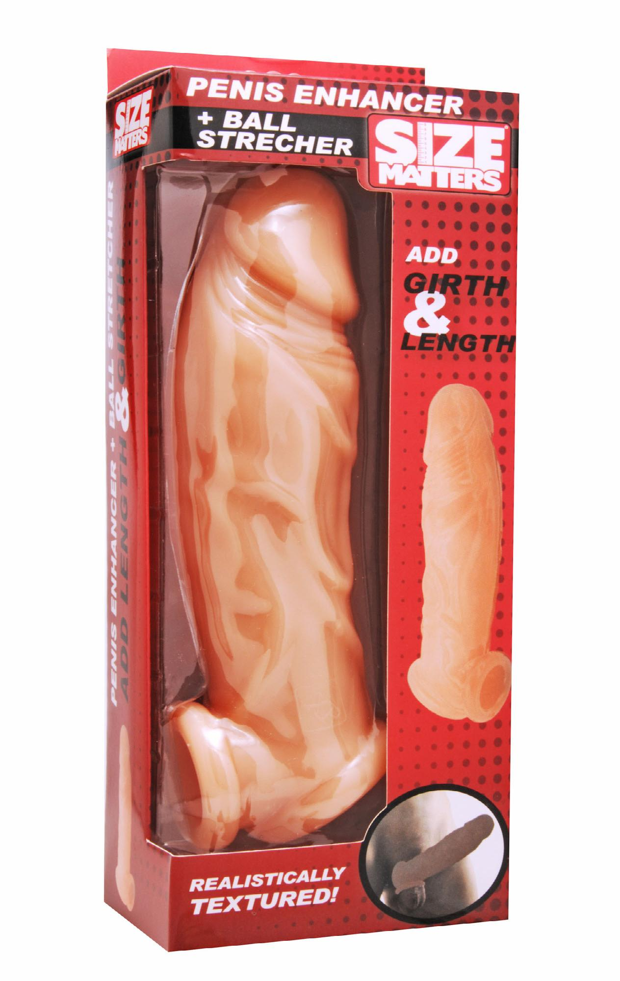 Realistic Flesh Penis Enhancer and Ball Stretcher