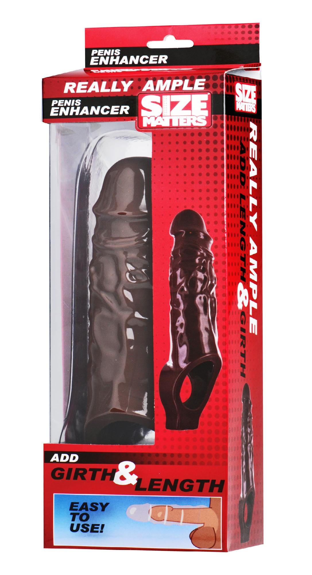 Really Ample Penis Enhancer Sheath- Brown