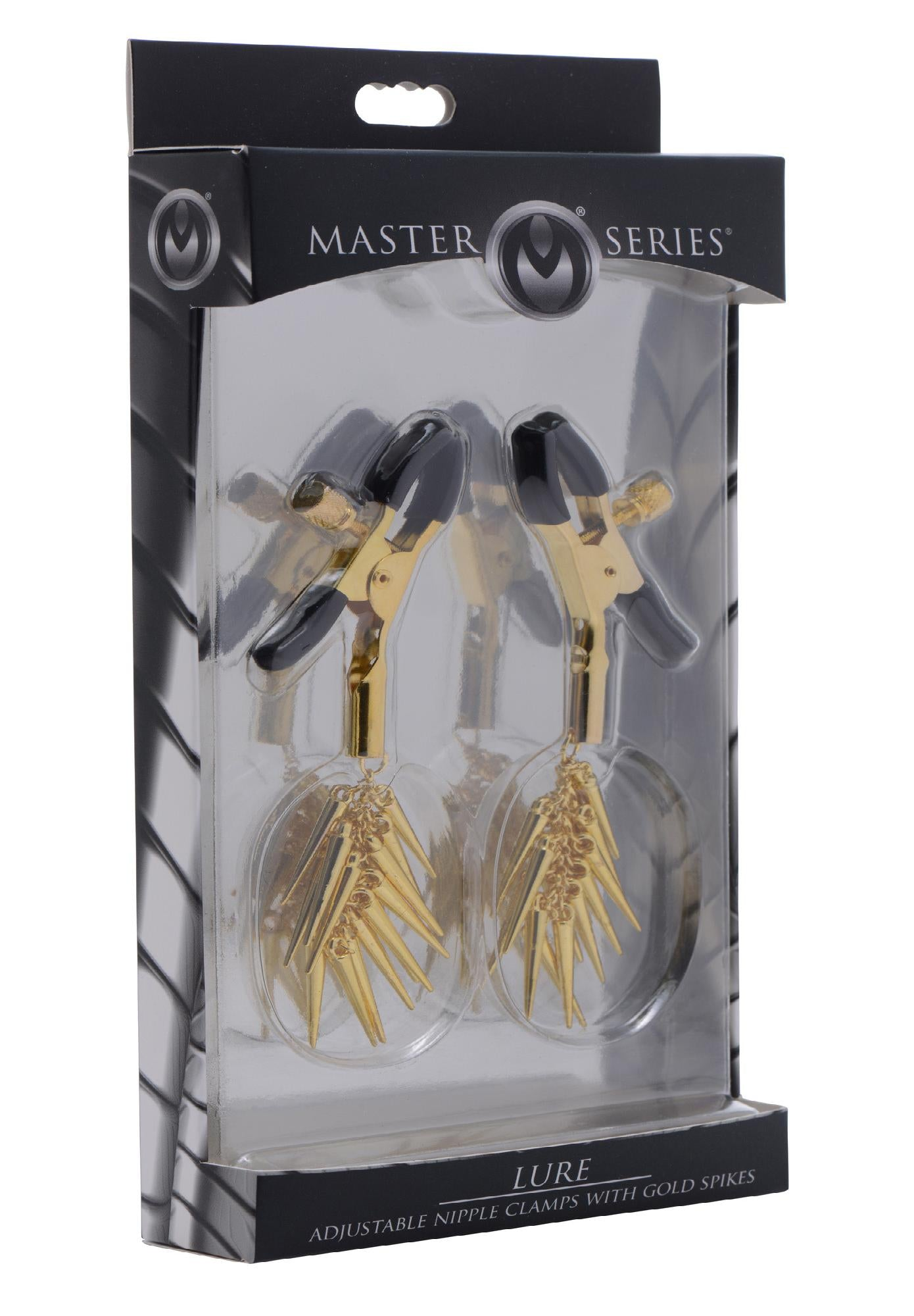 Lure Adjustable Nipple Clamps with Gold Spikes