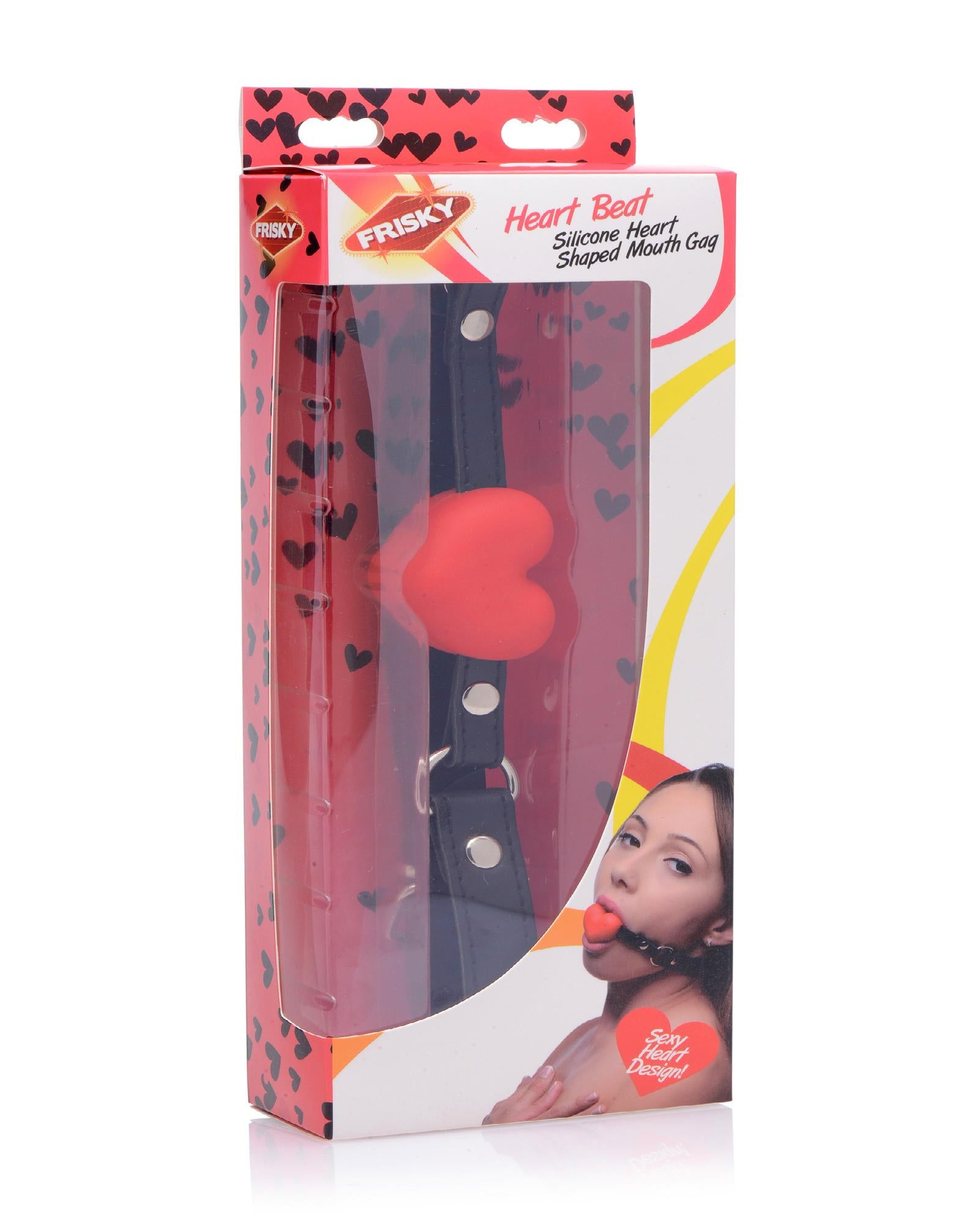 Heart Beat Silicone Heart Shaped Mouth Gag