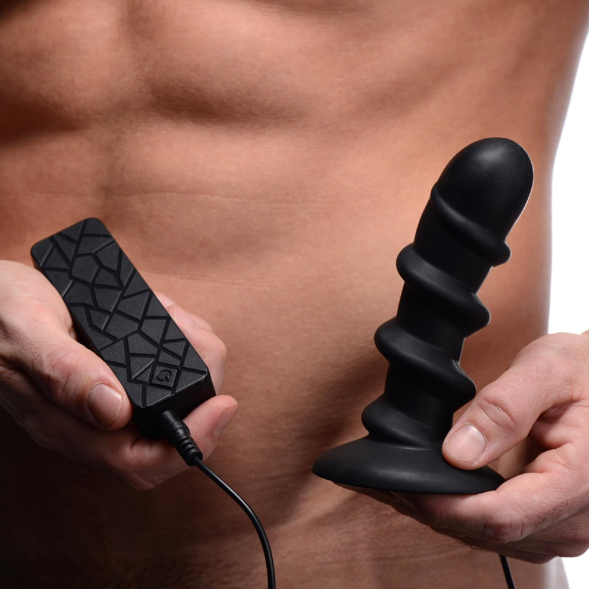 Ascend Silicone Swirl P-Spot Stimulator with Remote