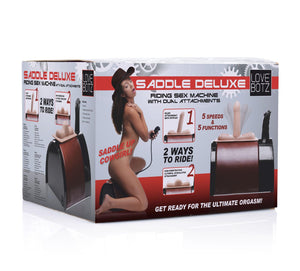 Saddle Deluxe Riding Sex Machine with Dual Attachments