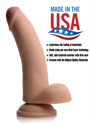 8 Inch Ultra Real Dual Layer Suction Cup Dildo