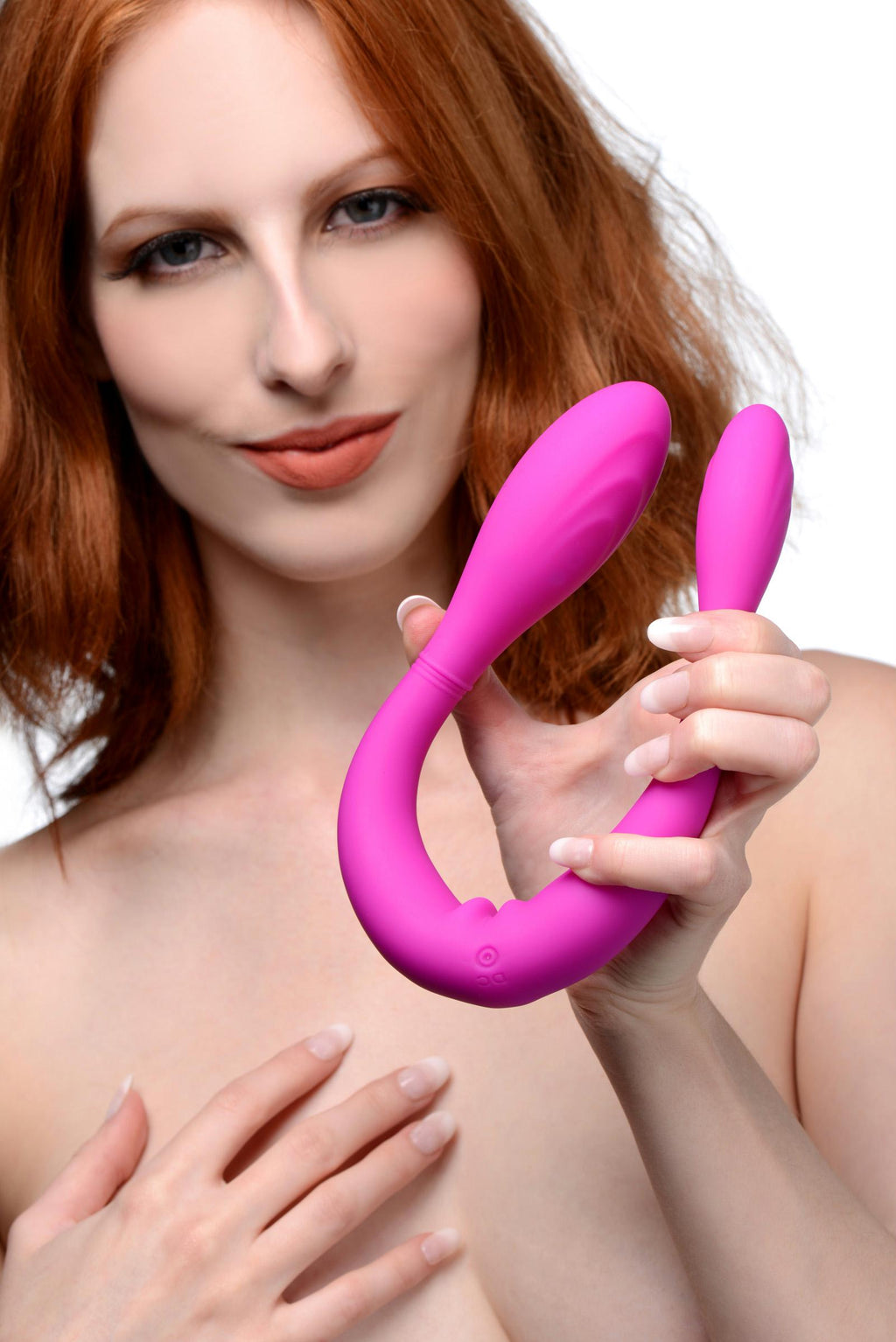 Double Thump 7x Rechargeable Silicone Double Dildo