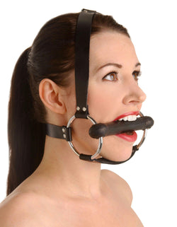 Strict Leather Locking Silicone Trainer Gag