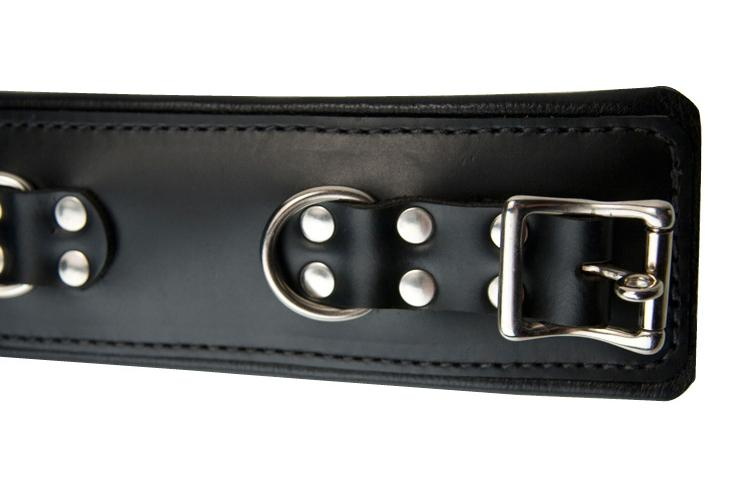 Strict Leather Padded Premium Locking Ankle Restraints