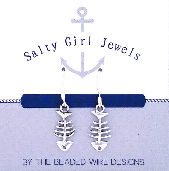 #SG66- Petite Fish Earrings- Silver
