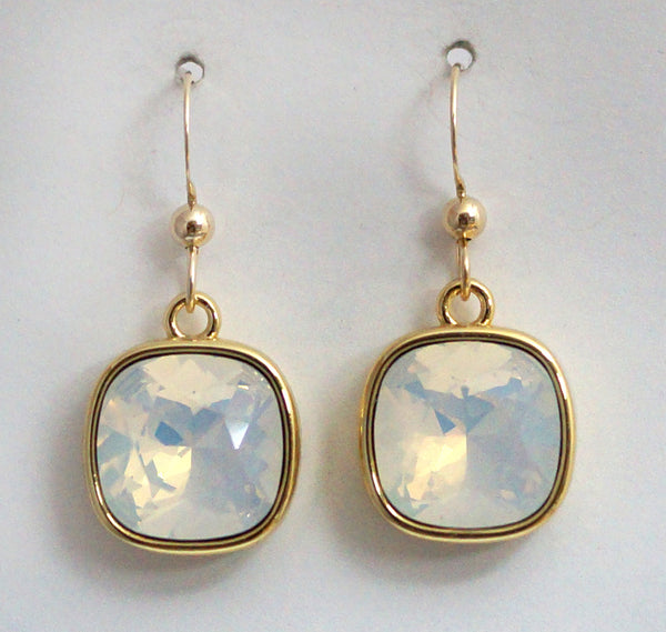 #CD69- Eclipse Drops- White Opal Gold