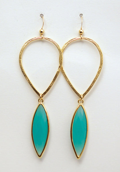 #AAMC056G- Water Drop- Mint Gold