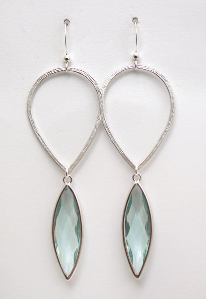 #AAMC062- Water Drop- Erinite Silver