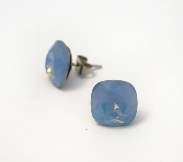 #CS40-Air Blue Opal Crystal Studs