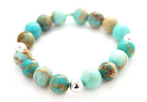 #JGB15- Gemstone Stretch- Teal Magnesite